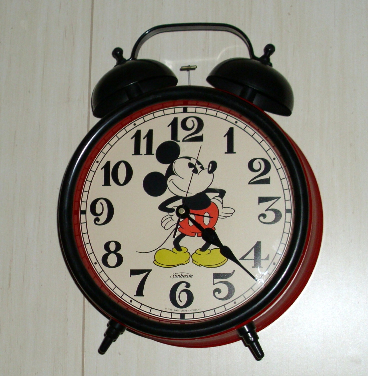 Mickey Mouse Classic Double Bell Alarm Clock By Sunbeam Giant