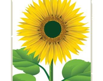 Downloadable Sunflower Print,Printable Sunflower Art, Digital Sunflower Print, Sunflower Poster ,Sunflower Print, Printable Sunflower