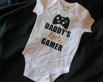 Daddy's Little Gamer Infant Bodysuit or Kid's Shirt - Gifts for Geeks - Father's Day - Gamer Dad