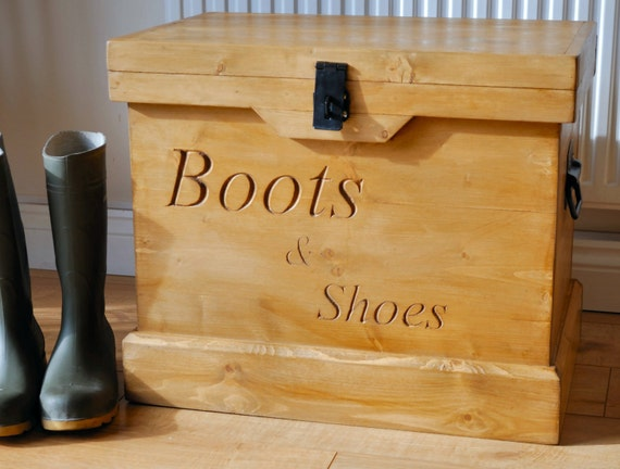 Like this item? & Rustic Wooden Chest Trunk Wellington Boot Storage Box and Seat Aboutintivar.Com