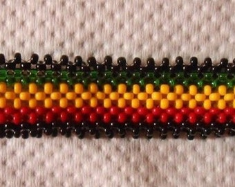 A rastafarian beaded bracelet