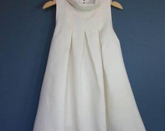 Ceremonial dress / ecru linen dress