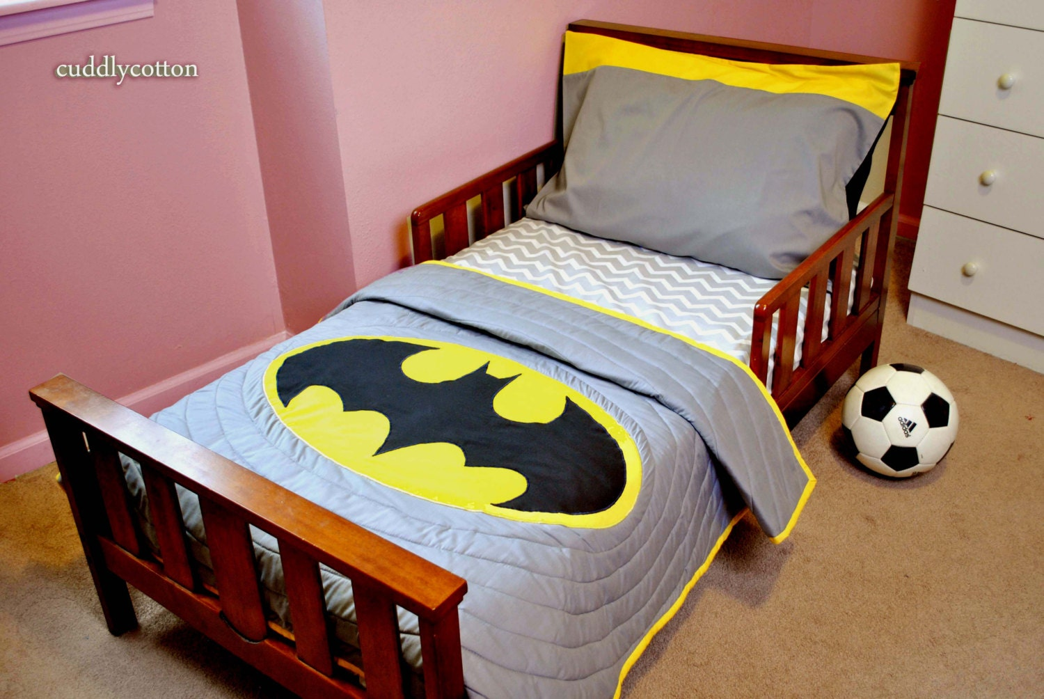 Batman Super Hero Toddler Bedding Set Toddler By Cuddlycotton