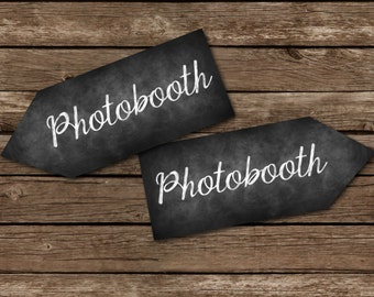 Chalkboard Printable Photobooth Arrow Sign, Direction Sign, Rustic pictures Sign, Chalkboard Sign, prom sign, Arrow Sign, DIY Sign