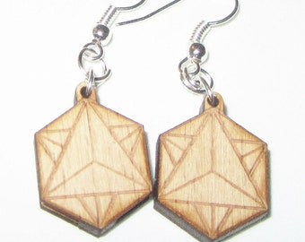 Earrings - Tetrahedron-Star