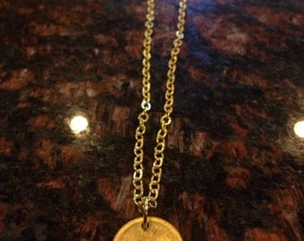 Middle east 50 rials coin necklace