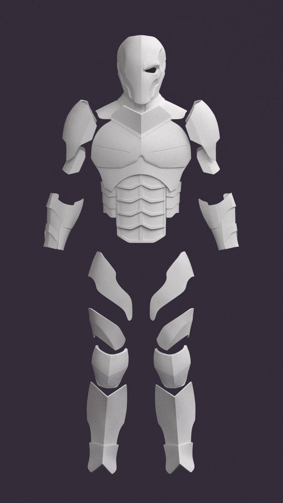 deathstroke armor template deathstroke pepakura patterns support me by cassiusprops