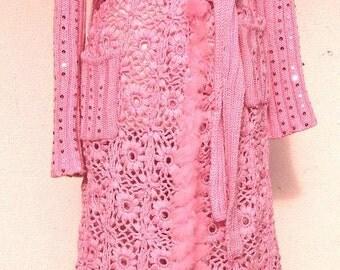 coat hand crocheted custom made