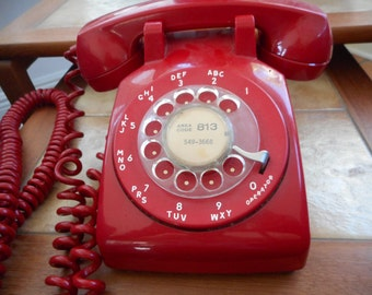 1960's Red Dial Telephone