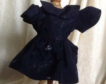 Vintage Black Doll Dress with Great Fabric