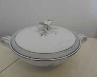 beautiful vintage NORITAKE sugar ki tchen BOWL white saucer for gift ...