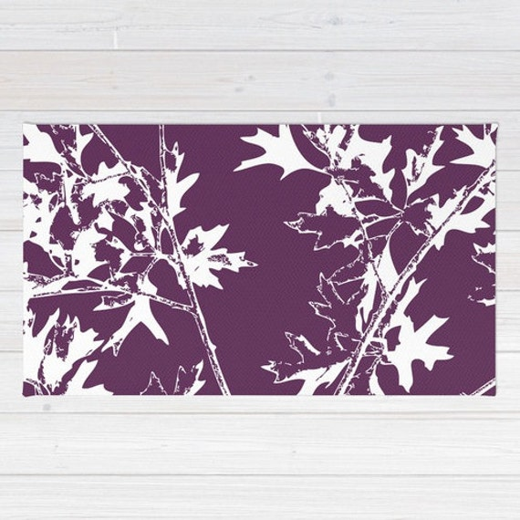 Modern Nature Rug: Maple Tree Branches Area Rug Modern Nature Area Rug Fall
