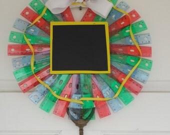 Ruler Wreath, Teacher wreath, school wreath, teacher decoration