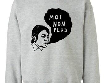 Serge Gainsbourg Moi Non Plus Sweatshirt (24 Colors Available) - Gildan X S M L XL XXL Handmade Illustration Eco-friendly Ink Screenprint