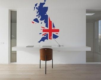 England Map reusable STENCIL for interior decor / Great Britain Map