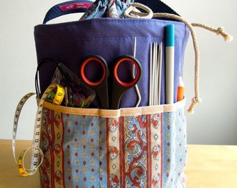 Knitting bag, knitting accessory, crochet hook organize, crochet bag, knitting needles, crochet hooks, project bag, knitting supplies
