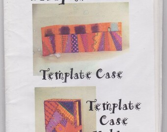 Template Case and Template Case Holder. Quilt Pattern. QK15.