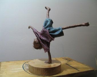 Boy doing a Cartwheel. Sculpture of boy. Sculpture of gymnast. Made to order