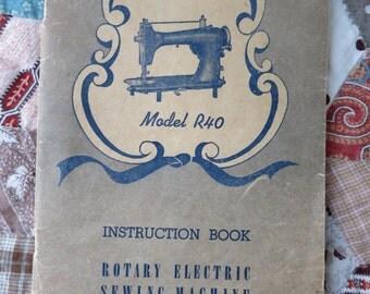 Vintage Sewing Machine Manual