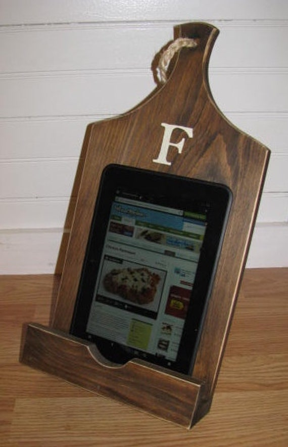 Ipad Stand Wood Stand Kitchen Holder Tablet By