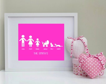 Personalised family print only