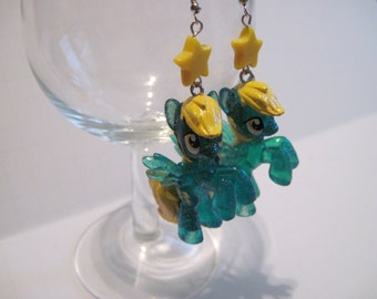 My Little Pony Earrings - Sassaflash - Glitter
