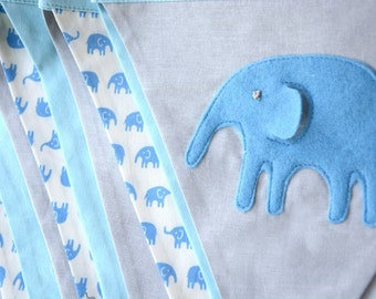 Elephant baby shower, Blue Elephant, Baby Boy nursery decor, elephant nursery, nursery bunting, Baby boy, baby bunting, blue, grey, gray,