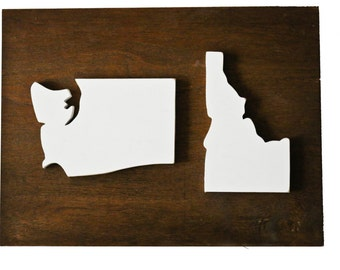 Wood State Sign | Two States | State Cutouts | Wood Cutouts