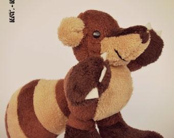 KOATI is a HANDSEWN plush coati (coatimundi) :)