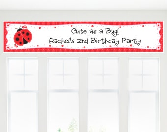 Ladybug Banner - Custom Baby Shower or Birthday Party Decorations