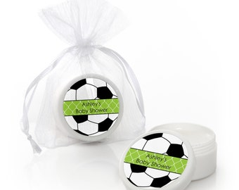 Soccer Lip Balm Party Favors - Baby Shower and Birthday Party Supplies - 12 Count