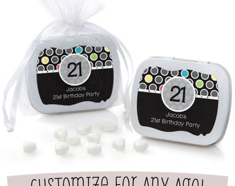 Custom Birthday Mint Tin Party Favors - Birthday Party Supplies - 12 Count