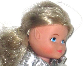 1983 Star Fairies - Royal Princess Sparkle - Hornby 7701 - No Wings - Blond Hair - Blue Eyes - Original Silver Dress - Excellent Condition