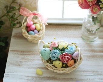 Miniature Easter Basket Floral Arrangment