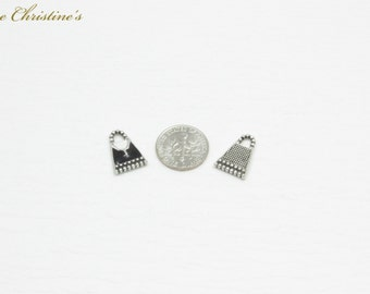 Laila - 5 DIY Charms Party Pack - Black and White Enamel Kelly-style Handbag Charms - TZZ080269