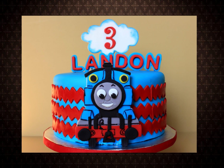 Edible Thomas Cake Decoration : Edible fondant 2D Thomas the train Birthday cake topper set