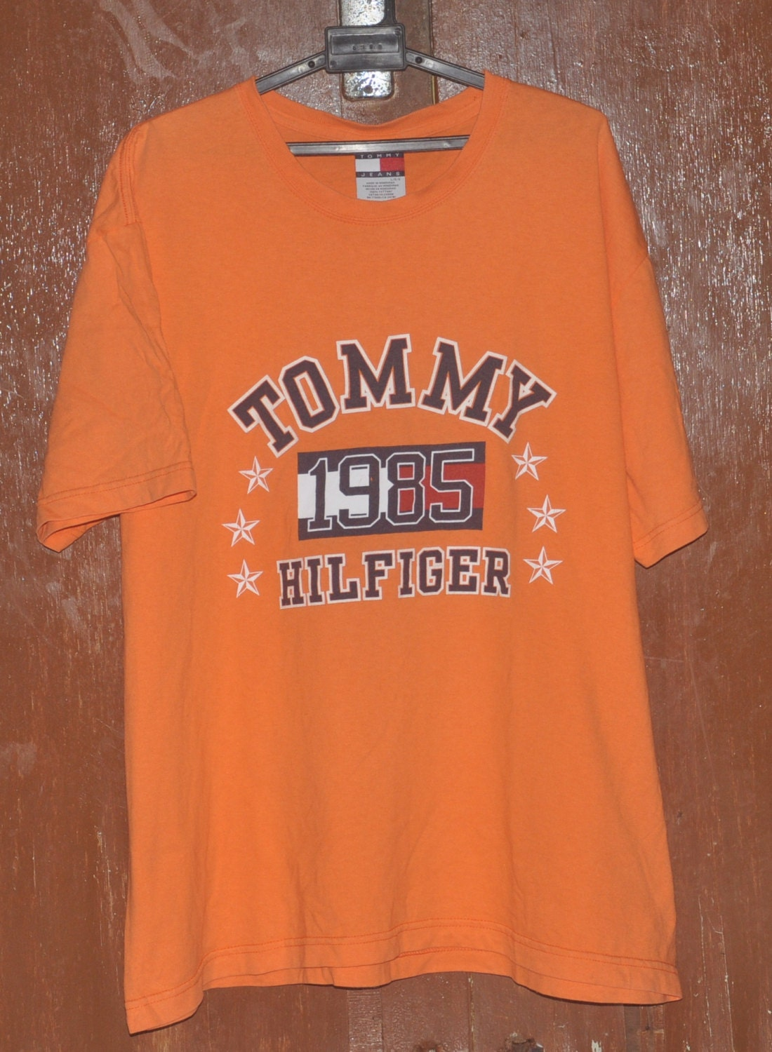 vintage 90s tommy hilfiger 1985 hip hop colourblock t shirt. Black Bedroom Furniture Sets. Home Design Ideas