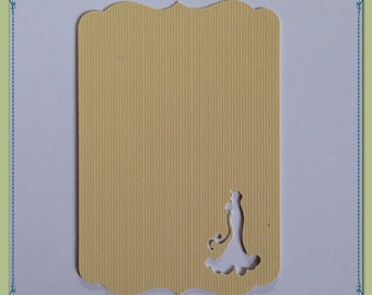 Bride silhouette tag, card, guest book alternative
