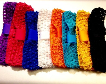 Crochet Headbands to Interchange with Bows