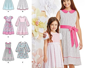 Child's and Girls' Dress in two lengths Simplicity Pattern 1211