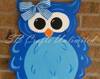 Owl Wood Door Hanger