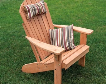 Red Cedar Fanback Adirondack Chair