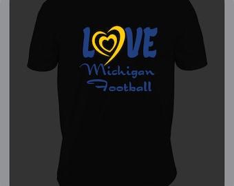 Black Michigan Football Tshirt
