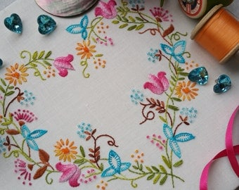 Transfer Embroidery Kit 'Tranquillity' (Brights) ; Beautiful Kits from Maggie Gee Needlework