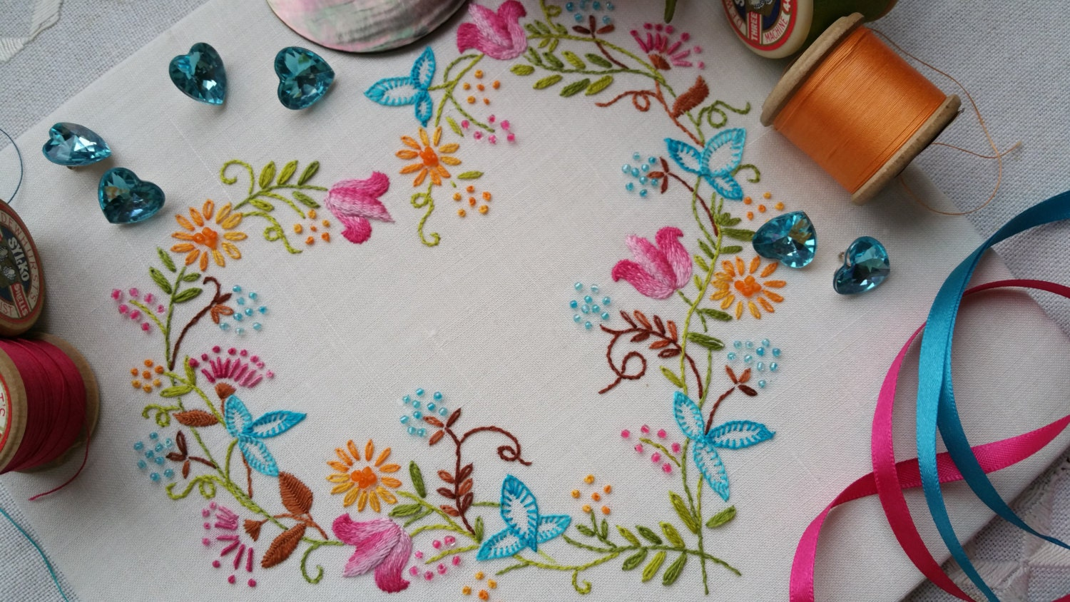 Transfer embroidery kit tranquillity brights
