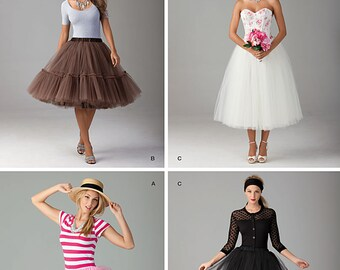 Simplicity Pattern 1427 Misses' Tulle Skirt in Three Lengths
