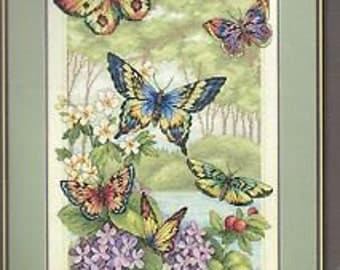 Butterfly Forest Counted Cross Stitch Kit