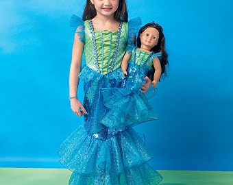 "McCall's Pattern M7175 Children's/Girls'/18"" Dolls' Costumes"