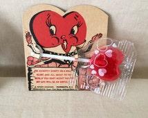 Vintage 1940's Novelty Lollipop Valentine Card...E. Rosen Company...Providence R.I.