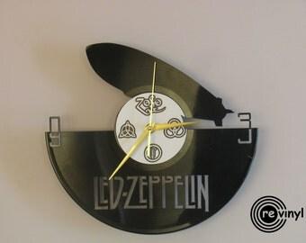 Led Zeppelin clock, vinyl record clock, Led Zeppelin, Jimmy Page, Robert Plant, vinyl wall clock, record wall clock, vinyl clock